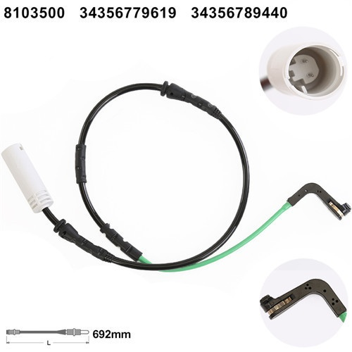 34356789440 Brake Pad Wear Sensor for  BMW 1 series (E81) [2004-2012] 3 series (E90E91E92E93) [05-12]